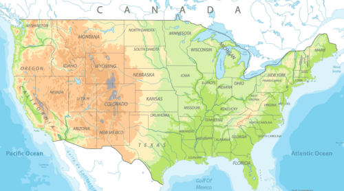 map United States